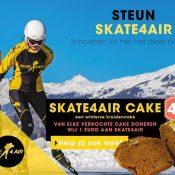 Skate4AIR-cake: geniet en doneer